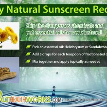 Healthy Natural Sunscreen Recipe Using Essential Oils