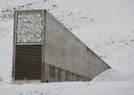 The Svalbard seed vault on a remote island part of Norway.
