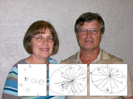 Mary Newport's husband Steve drew the following pictures of a clock; at right is the one drawn after taking coconut oil for Alzheimer's symptoms. PHOTO: Tampabay.com