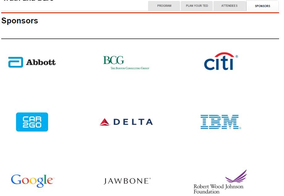 The TED Conference's 2015 sponsors include the Abbott Nutrition company, makers of baby formulas and nutrition drinks with GMO ingredients.