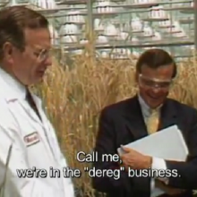 Rare Footage Shows George Bush's 1987 Visit to Monsanto, Uttering Seven Infamous Words That Would Change Everything