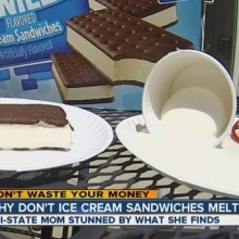 Mother Shocked After Ice Cream Sandwich Lasts 12 Hours in the Heat Without Melting (with Video)