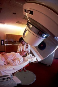 A woman being prepared for radiation therapy. PHOTO: Wikipedia
