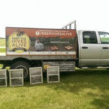 """Chemical Companies Are Killing Everything:"" Man Packs Truck Full of 2.5 Million Dead Honey Bees for Cross Country Tour"