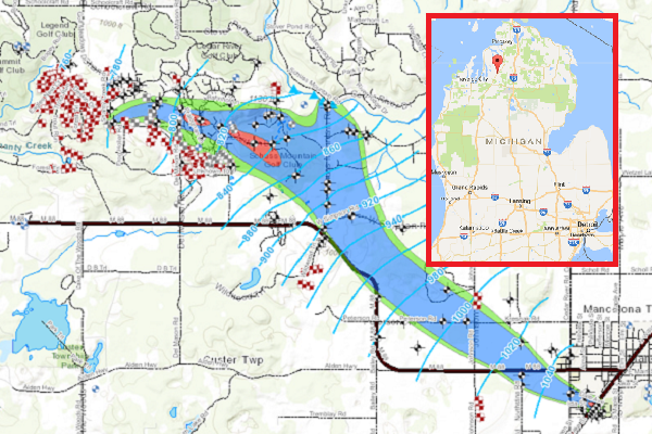 Northern michigan water contamination map