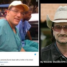 Doctor Who Treated Legendary Singer Bono Found with Knife in Chest at Home – 81st Unexplained Death in the Medical Community