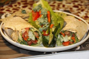 A simple guacamole wraps recipe from Get Your Health Up.