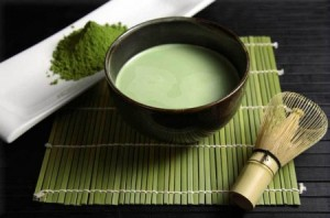 A beautiful ceremonial Matcha tea display.