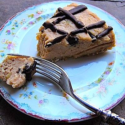 Sprouted chickpea peanut butter cookie cake slice.  Pictures courtesy of Deborah Felton.