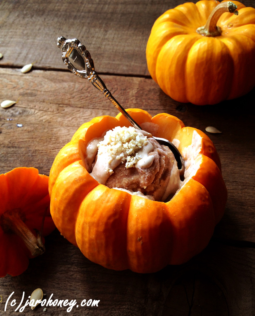 A raw organic pumpkin pie replacement for Thanksgiving- This one is a raw sorbet!