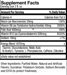 Five Hour Energy ingredients.