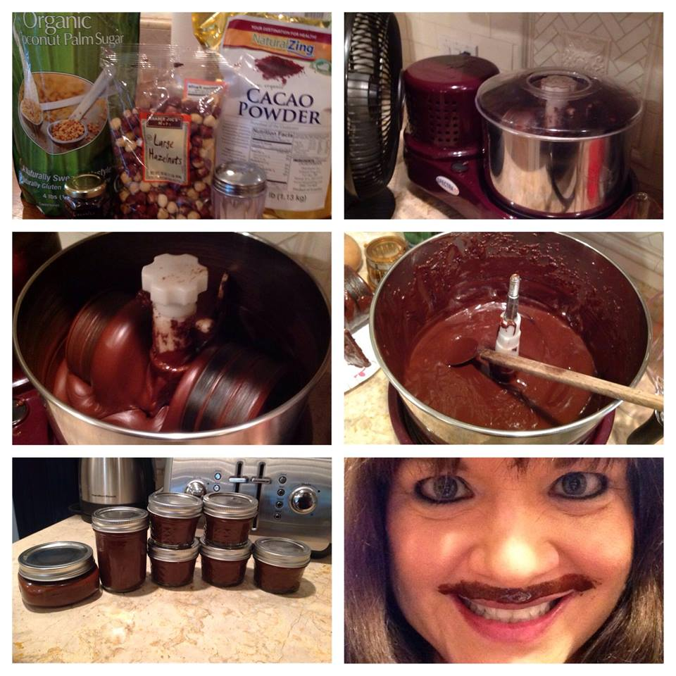 The finished product- Raw Nutella recipe with Myra.