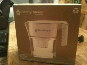 The Clearly Filtered water pitcher, which can filter fluoride and much more from your tap water.