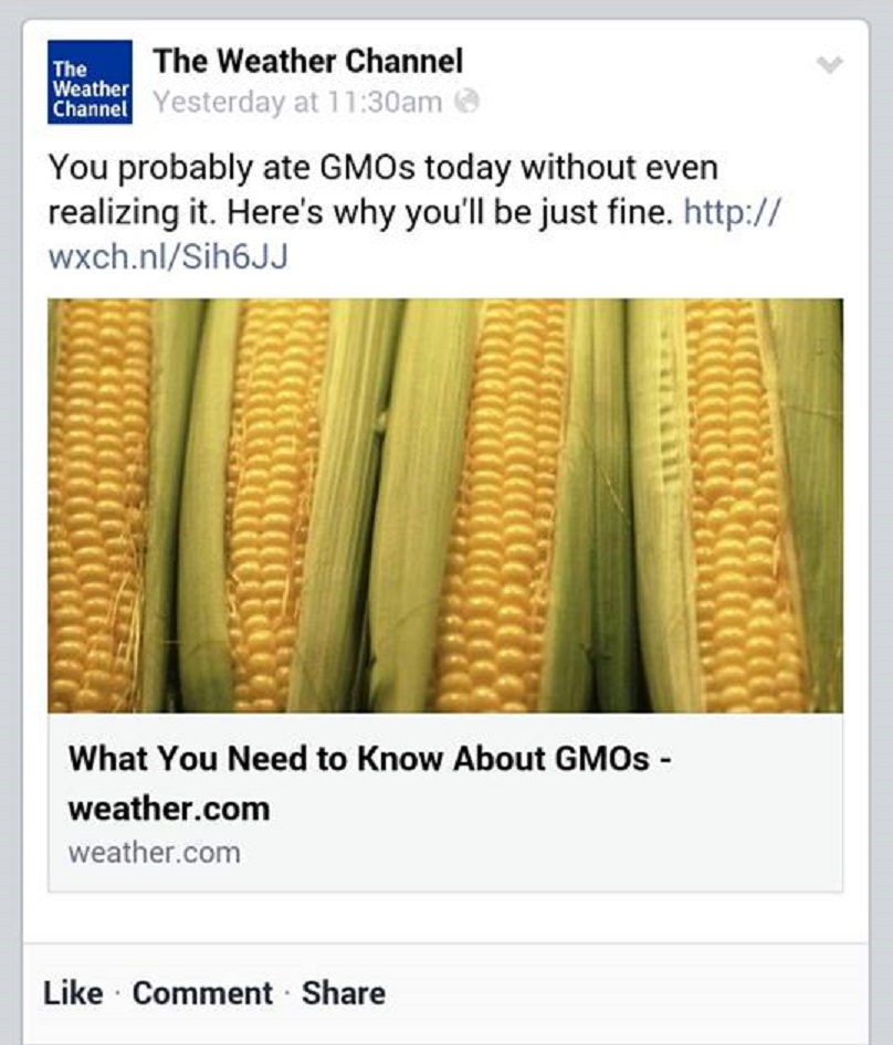 The Weather Channel, Which Has Partnered with Monsanto in ...