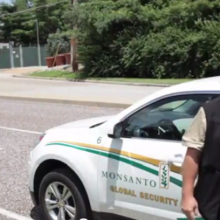 """Global Monsanto Security Team"" Attempts to Remove Reporters from Public Sidewalk"