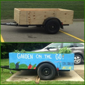 A before and after picture of the 'Garden on the Go' project. (Courtesy of Claire Erwin)