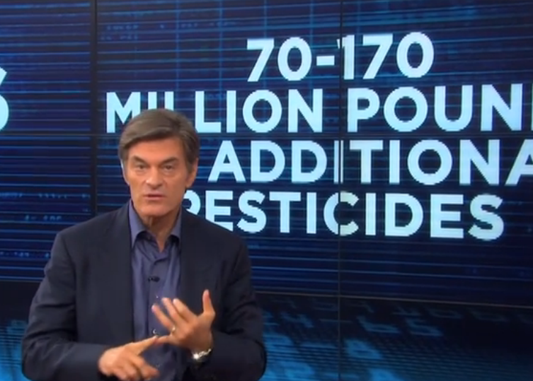 "Dr. Mehmet Oz is urging his fans to sign a new petition to stop ""Agent Orange"" GMO crops as soon as possible."