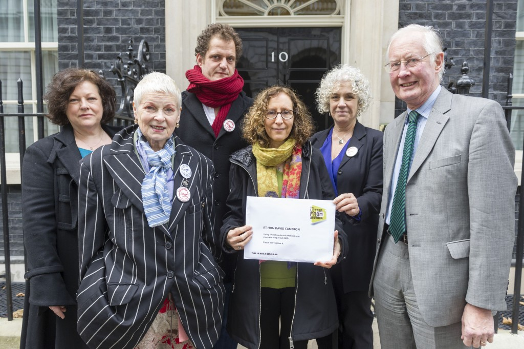 Ambassadors deliver the letter to officials at 10 Downing Street.