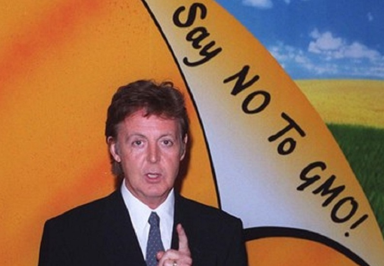 Paul McCartney has taken many stands against GMOs and for the right to know.