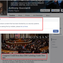 Article Exposing GMO Labeling Ban Being Censored by Facebook? See These Pictures and Decide for Yourself