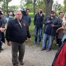 Protesters Respond to SOS Call on Facebook, Shut Down Armed Raid Against Family Farm!