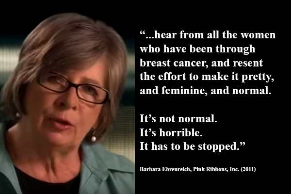 barbara ehrenreich essay on breast cancer Our reading guide for nickel and dimed by barbara ehrenreich she taught essay writing at the ehrenreich was diagnosed with breast cancer shortly.