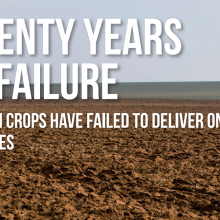 New European Report Exposes Failed Promises of GMO Crops