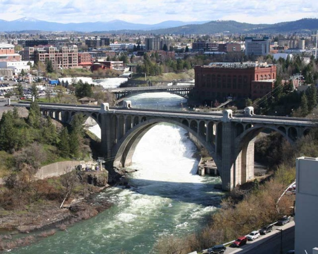The Spokane River. Photo via RiverFallsTower.com.