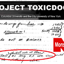 """Toxic Docs:"" New Columbia University Project Exposes Deepest, Darkest Secrets of Monsanto and Other Chemical Companies"
