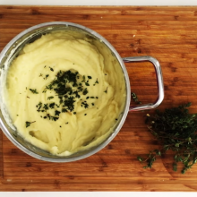 Savory Garlic and Thyme Mashed Potatoes Recipe with Health Benefits for Blood Pressure, Colon Health and More