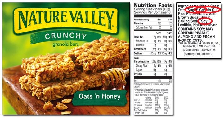 nature valley granola bars
