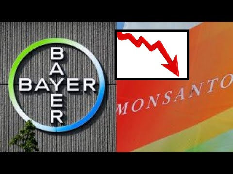 monsanto bayer stock plummets lawsuit