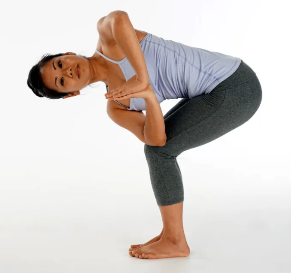 twisted chair pose yoga weight loss