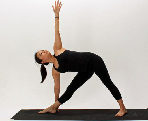 triangle pose yoga weight loss