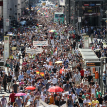 Thousands of Protesters Shut Down City Streets, March in Germany Against Government's Increasing Coronavirus Restrictions
