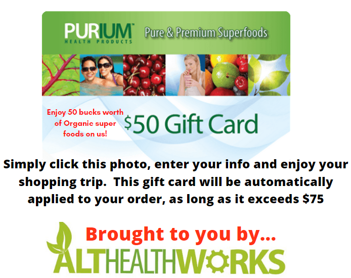 althealthworks purium gift card deal and link